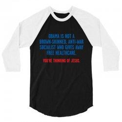 obama jesus 3/4 Sleeve Shirt | Artistshot