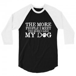 people dog 3/4 Sleeve Shirt | Artistshot