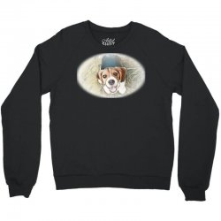 Beagle puppy sitting on green Crewneck Sweatshirt | Artistshot
