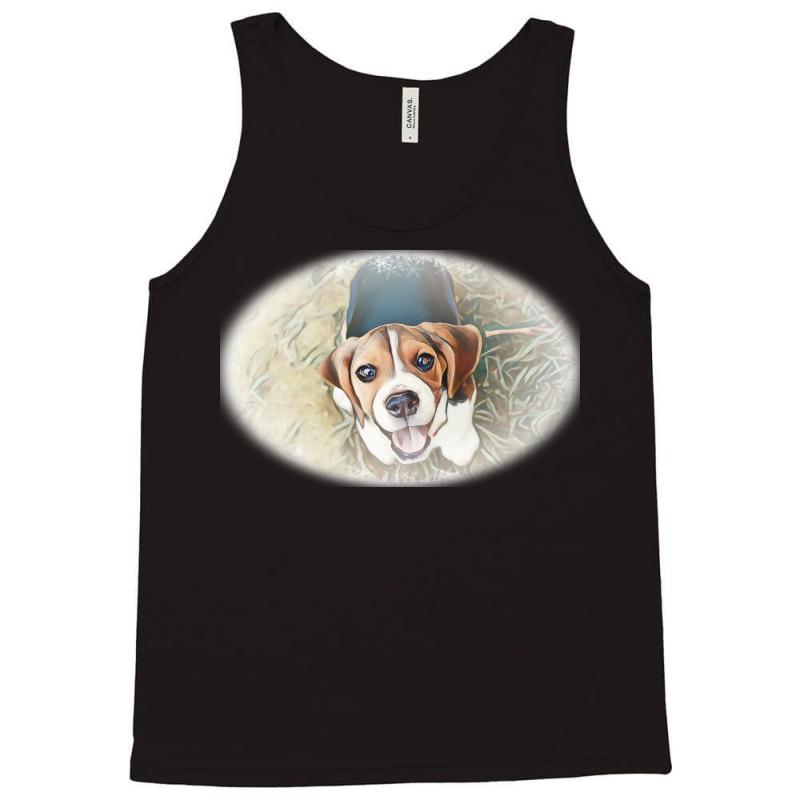 Beagle Puppy Sitting On Green Tank Top | Artistshot