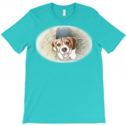 Beagle puppy sitting on green T-Shirt | Artistshot