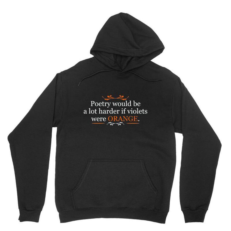 Poetry Orange Unisex Hoodie | Artistshot