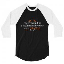poetry orange 3/4 Sleeve Shirt | Artistshot