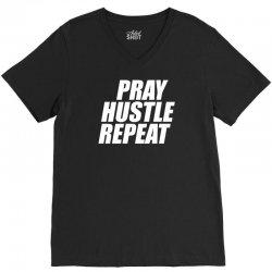 pray hustle repeat V-Neck Tee | Artistshot