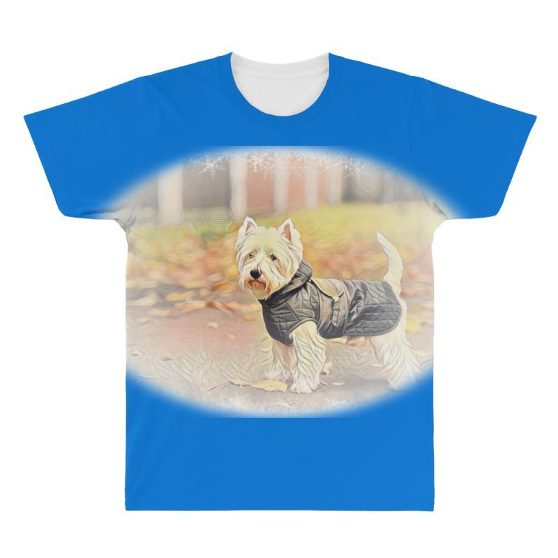 West Highland White Terrier P Autumn Foliage. All Over Men's T-shirt | Artistshot