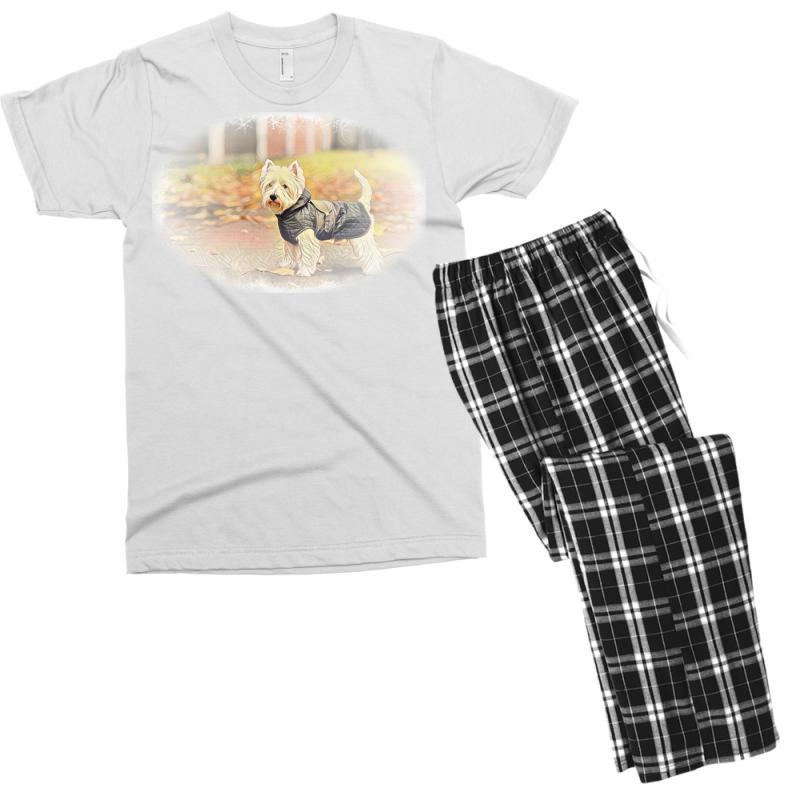 West Highland White Terrier P Autumn Foliage. Men's T-shirt Pajama Set   Artistshot