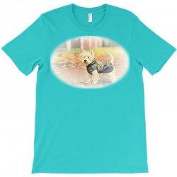 west highland white terrier p autumn foliage. T-Shirt | Artistshot