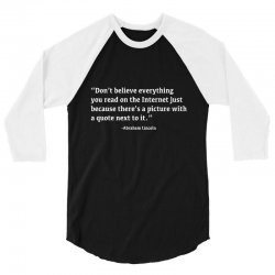 quote lincoln 3/4 Sleeve Shirt | Artistshot