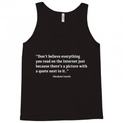 quote lincoln Tank Top | Artistshot