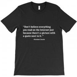 quote lincoln T-Shirt | Artistshot