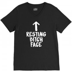 resting bitch face V-Neck Tee | Artistshot