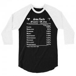aries facts 3/4 Sleeve Shirt   Artistshot