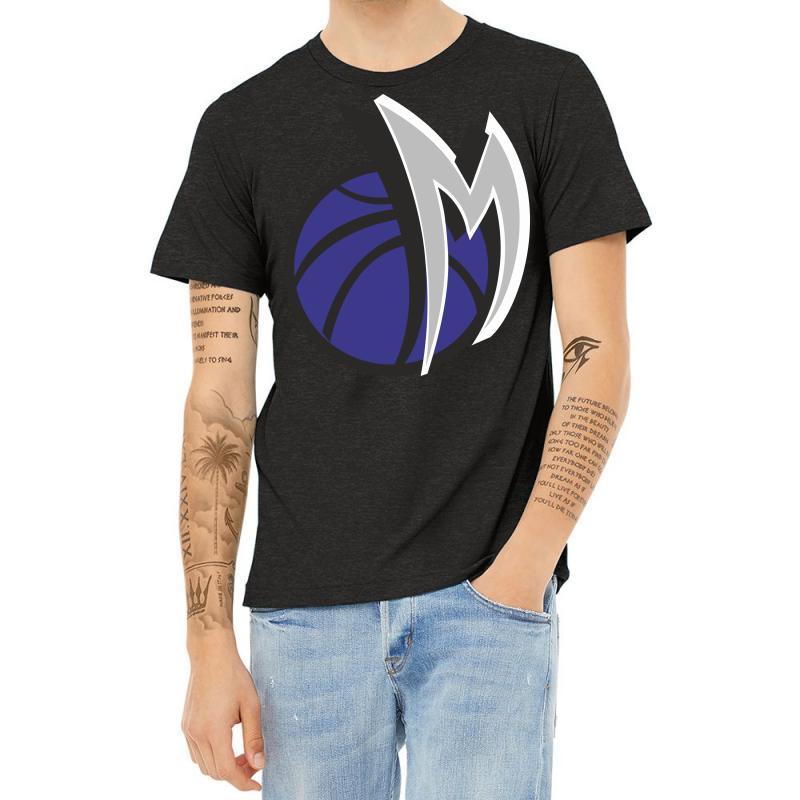 M Basketball Heather T-shirt | Artistshot
