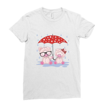 Pig Love Ladies Fitted T-shirt Designed By Estore