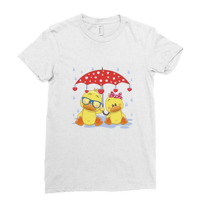 Duck Love Ladies Fitted T-shirt Designed By Estore