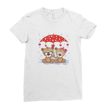 Bear Love Ladies Fitted T-shirt Designed By Estore
