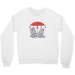 Hippopotamus Love Crewneck Sweatshirt | Artistshot