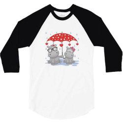 Hippopotamus Love 3/4 Sleeve Shirt | Artistshot