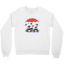 Panda Love Crewneck Sweatshirt   Artistshot