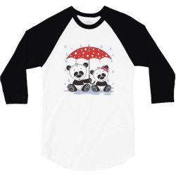 Panda Love 3/4 Sleeve Shirt   Artistshot