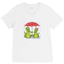 Crocodile Love V-Neck Tee | Artistshot