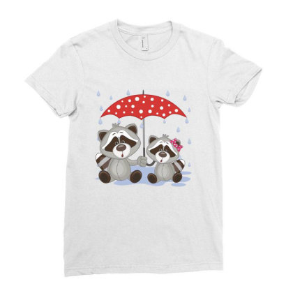 Coon Love Ladies Fitted T-shirt Designed By Estore