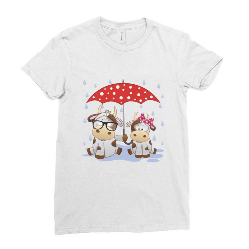 Cow Love Ladies Fitted T-shirt   Artistshot