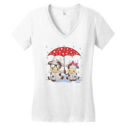 Cow Love Women's V-Neck T-Shirt | Artistshot