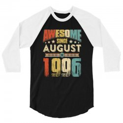 awesome since august 1996 shirt 3/4 Sleeve Shirt   Artistshot