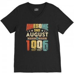 awesome since august 1996 shirt V-Neck Tee | Artistshot