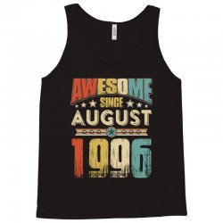 awesome since august 1996 shirt Tank Top   Artistshot