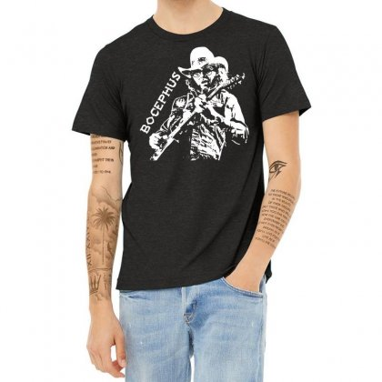 Hank Jr Bocephus Heather T-shirt Designed By Teeshop