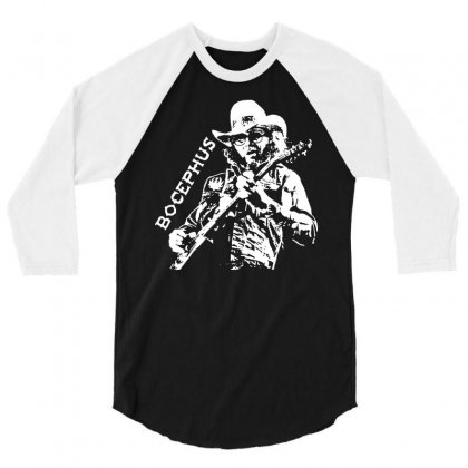 Hank Jr Bocephus 3/4 Sleeve Shirt Designed By Teeshop