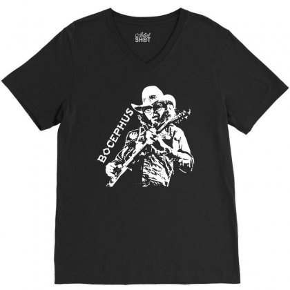 Hank Jr Bocephus V-neck Tee Designed By Teeshop