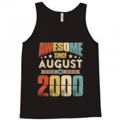 awesome since august 2000 shirt Tank Top | Artistshot