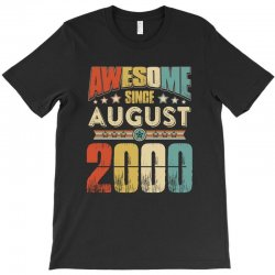 awesome since august 2000 shirt T-Shirt | Artistshot