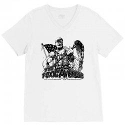 the toxic avenger shirt toxic avenger poster t shirts vintage 80s horr V-Neck Tee | Artistshot
