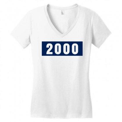 2000 Birthday Year Women's V-neck T-shirt Designed By Lyly