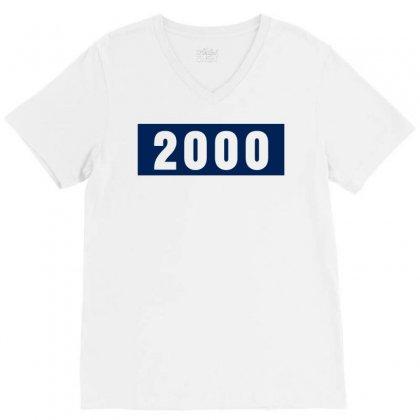 2000 Birthday Year V-neck Tee Designed By Lyly