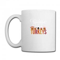 Thankful For My Little Turkeys For Dark Coffee Mug Designed By Sengul