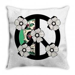 peace skull for light Throw Pillow | Artistshot