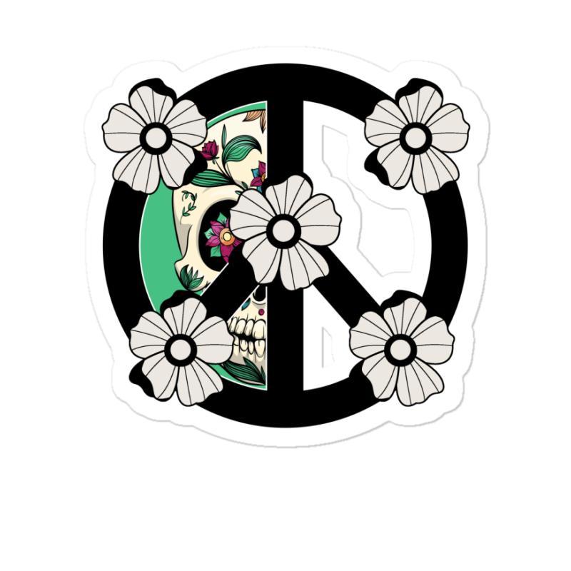Peace Skull For Light Sticker | Artistshot