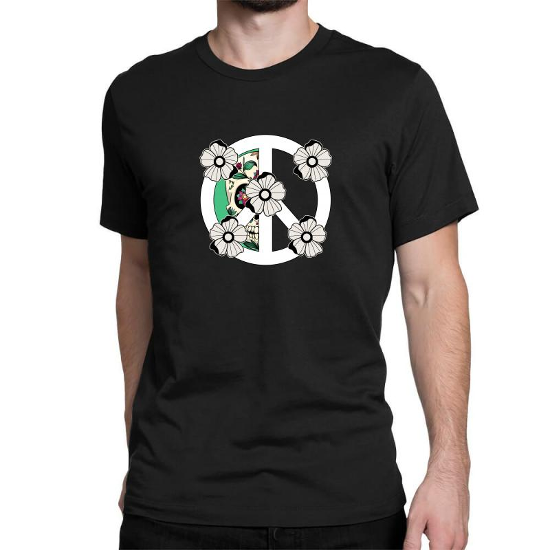 Peace Skull For Dark Classic T-shirt | Artistshot