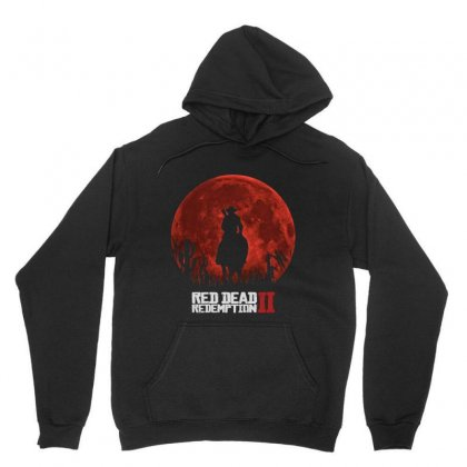 Red Dead Redemption 2   Red Moon   Cowboy Unisex Hoodie Designed By Jessicafreya