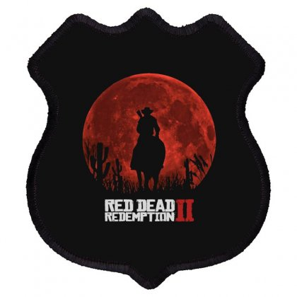 Red Dead Redemption 2   Red Moon   Cowboy Shield Patch