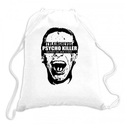 Talking Heads T Shirt American Psycho Killer 80s Vintage Rock Tees Drawstring Bags Designed By Teeshop