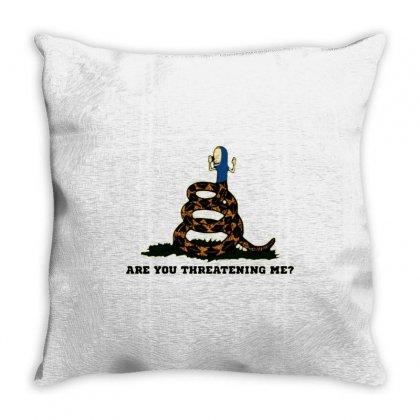 Gadsden Flag Beavis Are You Threatening Me Throw Pillow Designed By Jessicafreya