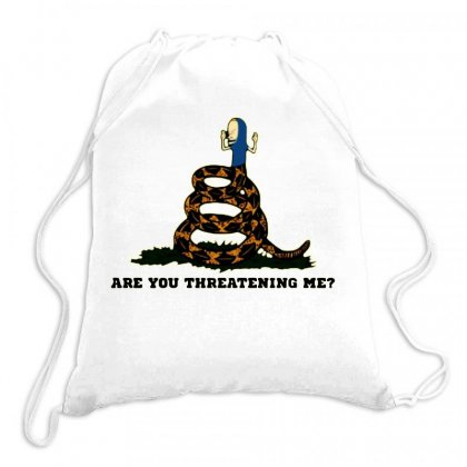 Gadsden Flag Beavis Are You Threatening Me Drawstring Bags Designed By Jessicafreya