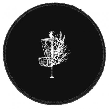 Disc Golf Basket Tree Shirts Funny Round Patch Designed By Teeshop