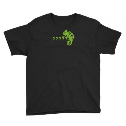 Comma Chameleon Youth Tee Designed By Rendi
